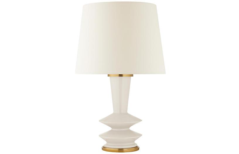 Whittaker Medium Table Lamp, Ivory