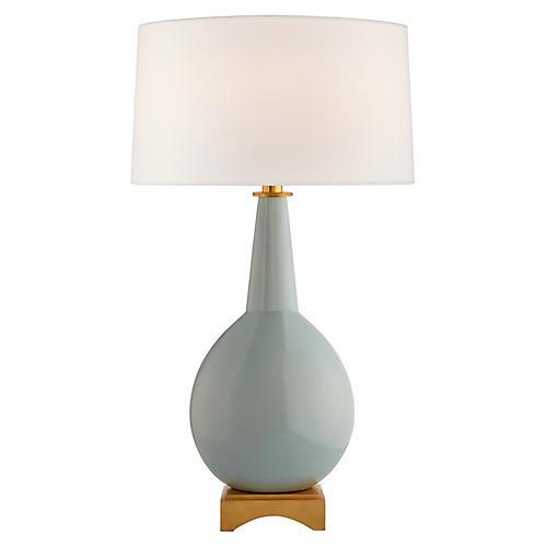 Antoine Table Lamp, Pale Blue