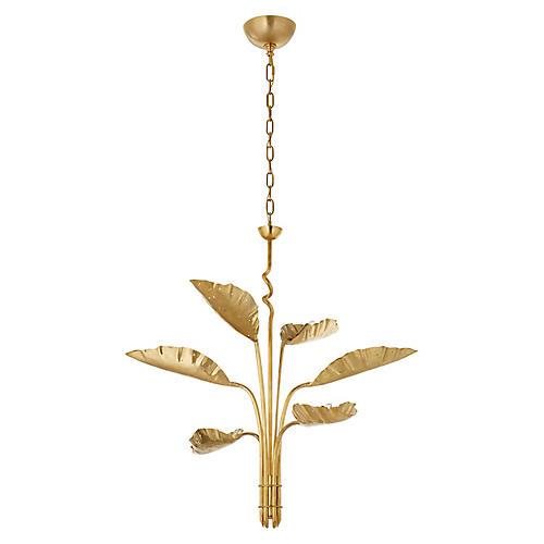 Dumaine Chandelier, Antique-Burnished Brass
