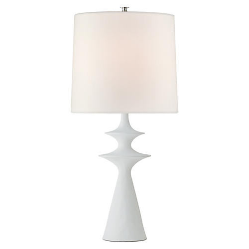 Lakmos Table Lamp, Plaster White