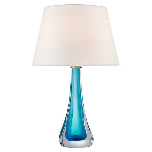 Christa Table Lamp, Cerulean Blue