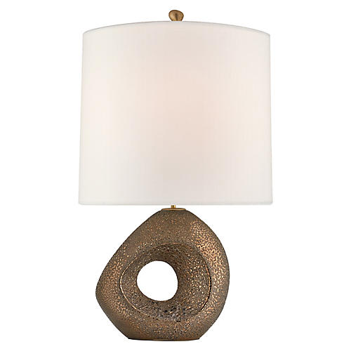 Paco Table Lamp, Chalk Burnt Gold