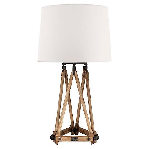 Quincy Table Lamp, Vintage Oak