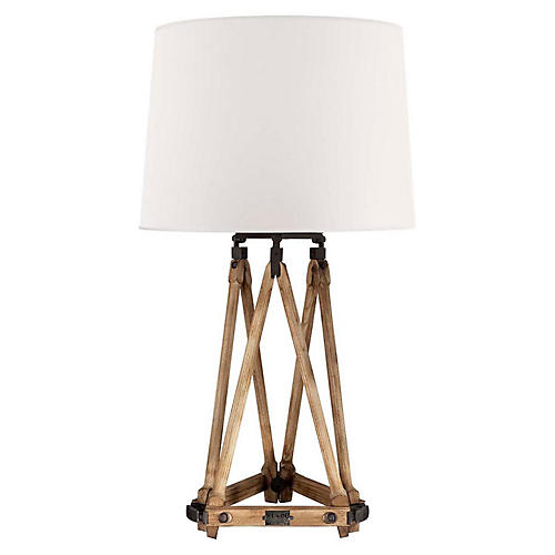 Quincy Table Lamp, Vintage Oak