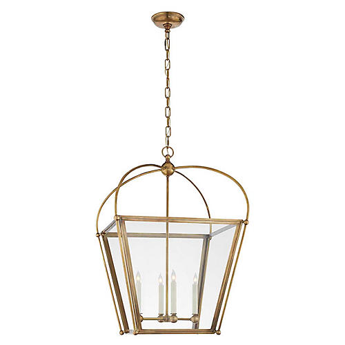Plantation Medium Lantern, Burnished Brass