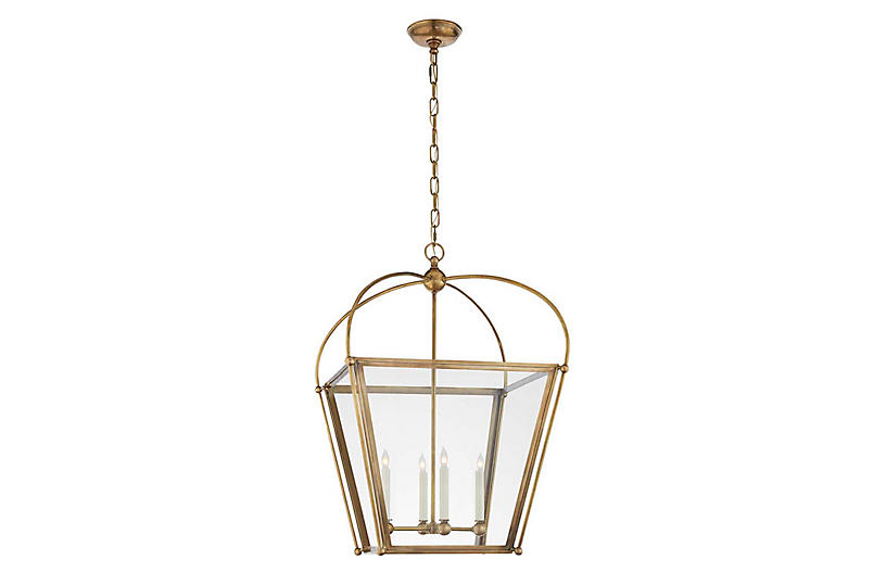 Bryn Medium Lantern, Burnished Brass