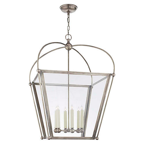 Plantation Large Lantern, Antiqued Nickel