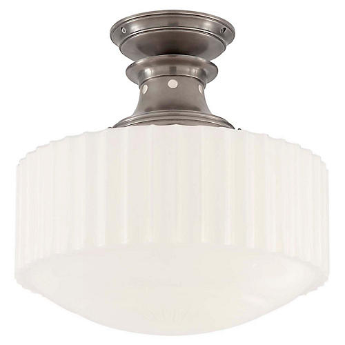 Milton Semi-Flush Mount, Antiqued Nickel