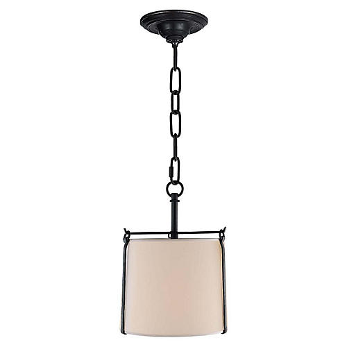 Aspen Small Hanging Shade, Black Rust