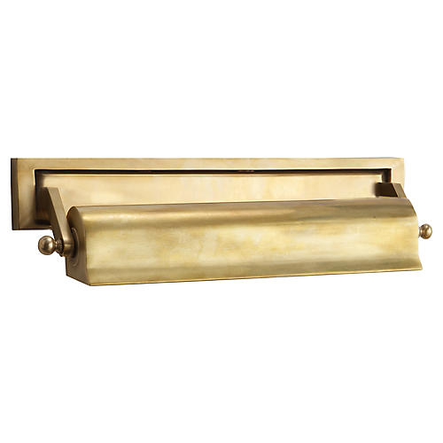 Library Double Bath Picture Light, Brass