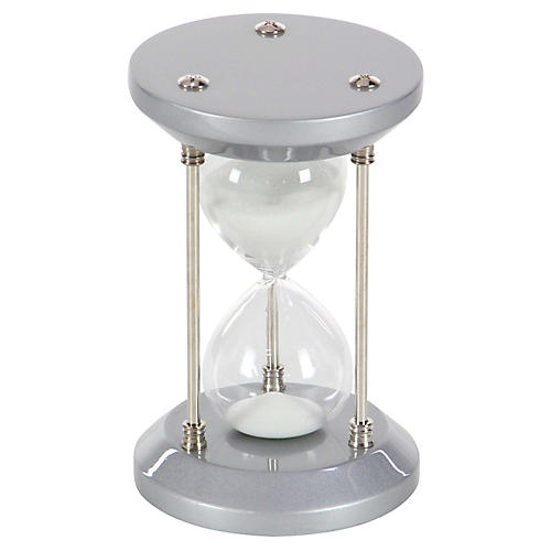"7"" Morton 15-Minute Hourglass, Gray/Silver"