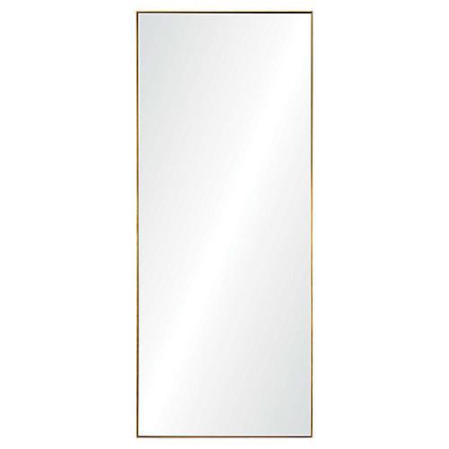 Crosland Floor Mirror, Gold Leaf