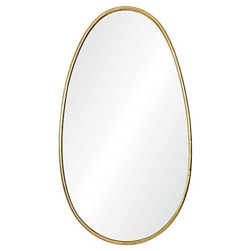Ania Wall Mirror, Gold Leaf