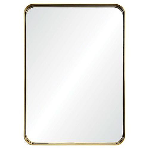 Barton Wall Mirror, Antiqued Gold