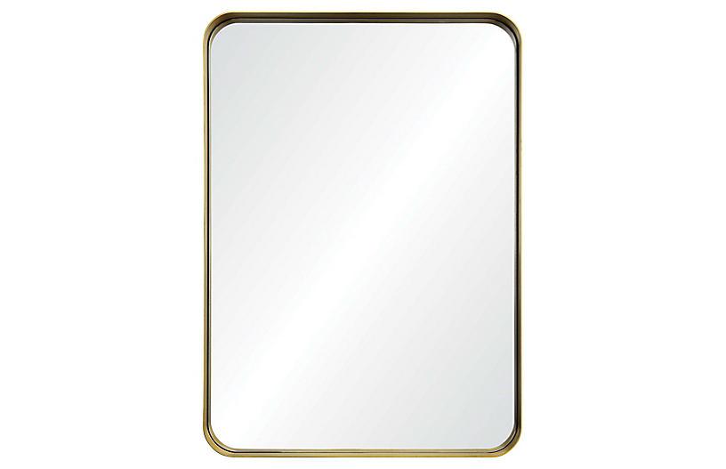 Barton Wall Mirror, Antiqued Gold