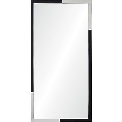 Waltham Wall Mirror, Black/Silver
