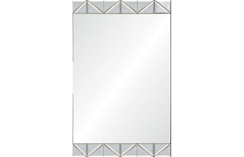 Angus Wall Mirror, Mirrored