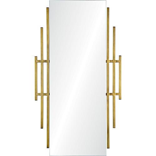 Abi Wall Mirror, Brass