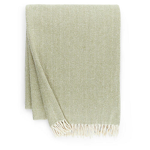 Celine Cotton Throw, Moss