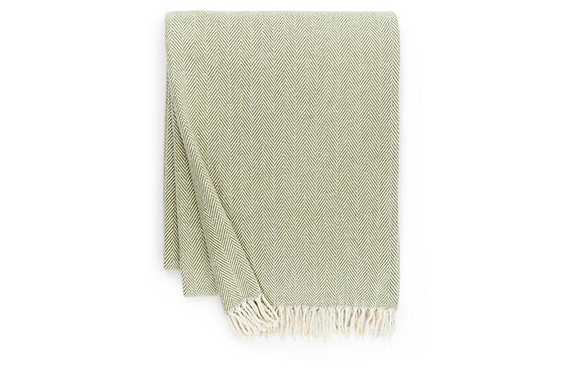 Celine Cotton Throw, Moss