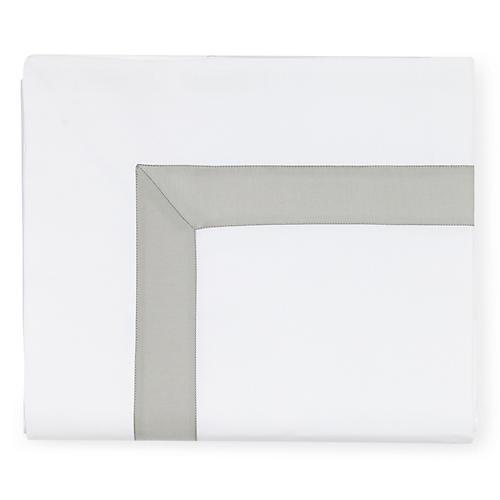 Orlo Flat Sheet, White/Gray