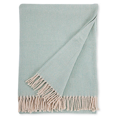 Celine Cotton Throw, Aqua