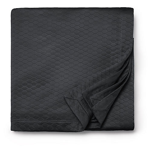 Favo Coverlet, Charcoal