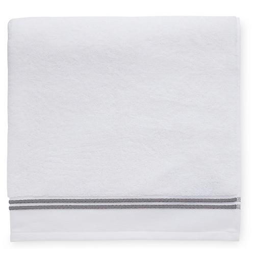 Aura Washcloth, White/Iron