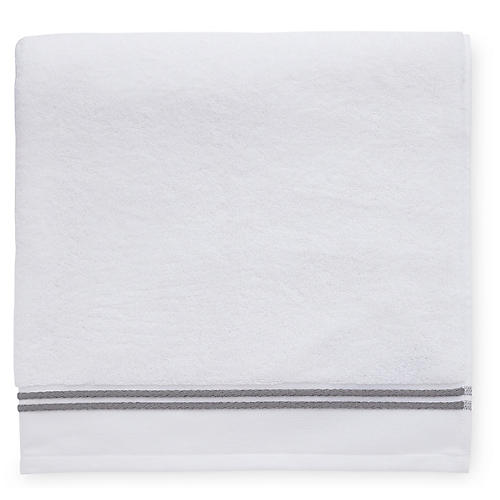Aura Washcloth, White/Iron