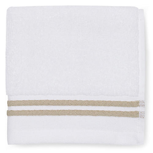 Aura Washcloth, White/Almond