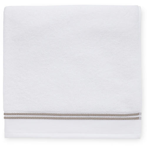 Aura Washcloth, White/Stone