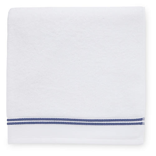 Aura Hand Towel, White/Navy