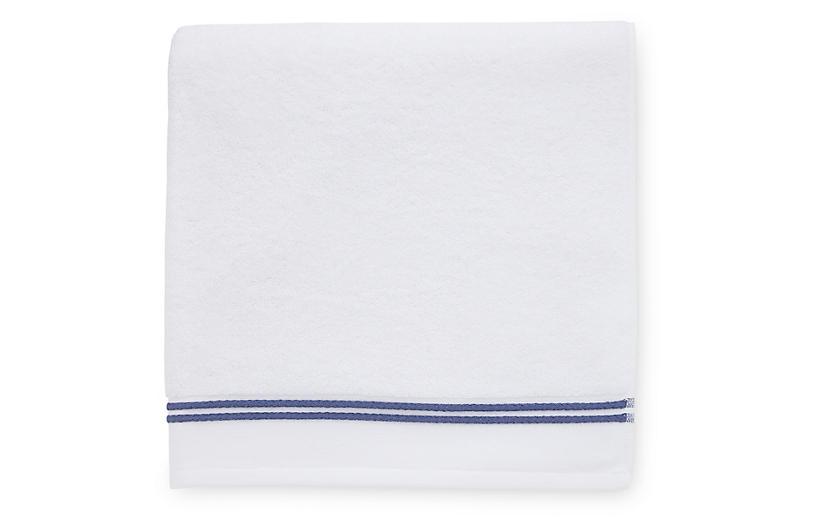 Aura Hand Towel, White/Navy
