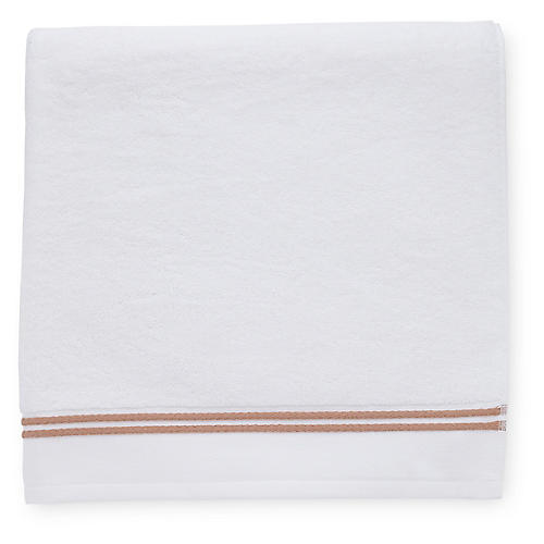 Aura Hand Towel, White/Copper