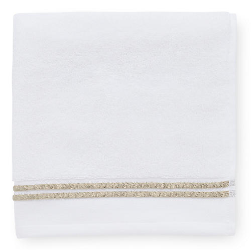 Aura Hand Towel, White/Almond