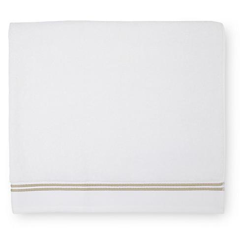 Aura Bath Towel, White/Almond