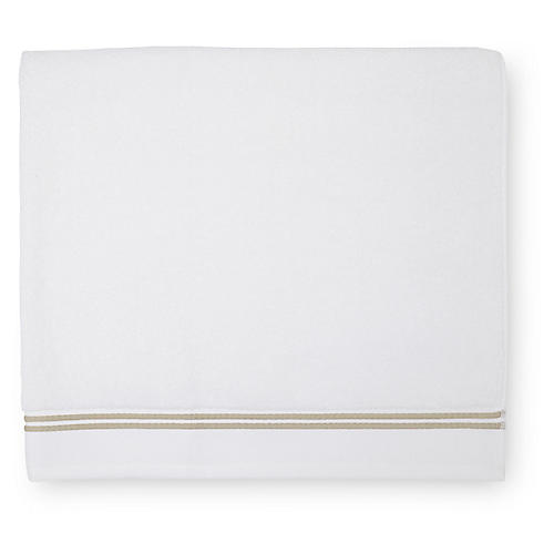 Aura Bath Towel, White/Almond