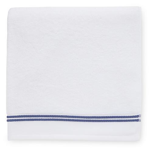 Aura Bath Sheet, White/Navy