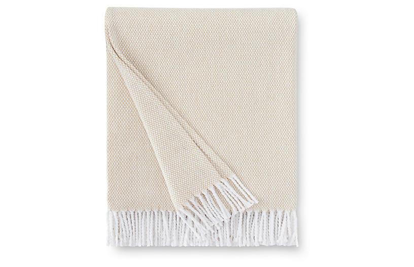 Terzo Cotton Throw, Sand