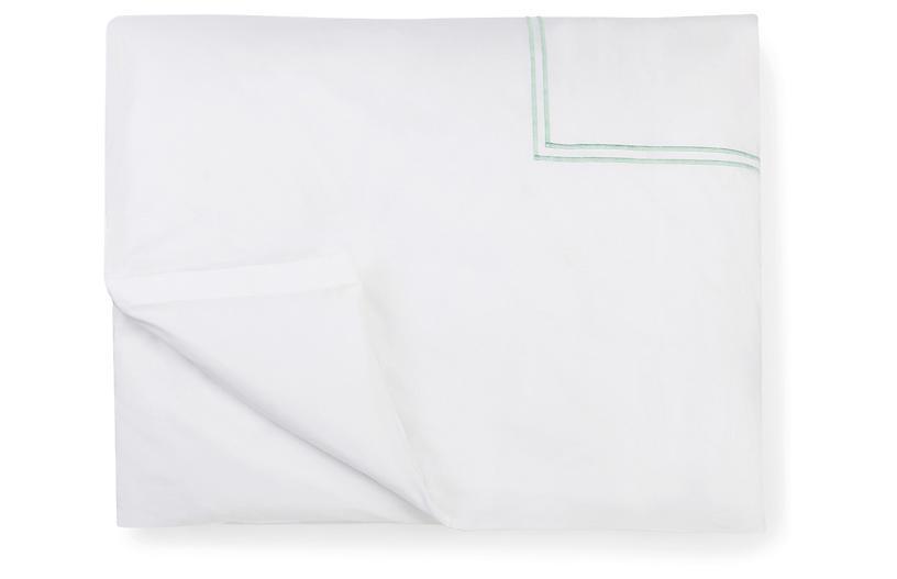 Grande Hotel Duvet Cover, White/Mist