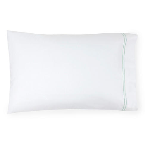 S/2 Grande Hotel Pillowcases, White/Mist