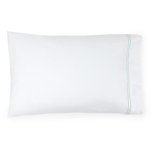 S/2 Grande Hotel Pillowcases, White/Mist
