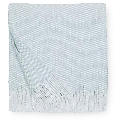 Terzo Cotton Throw, Seagreen