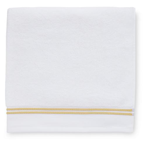 Aura Bath Towel, White/Corn