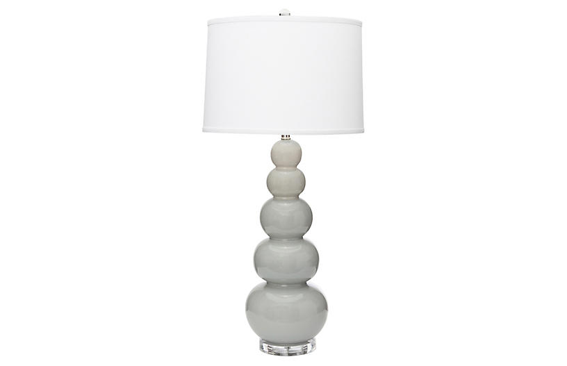 Trousdale Table Lamp, Gray