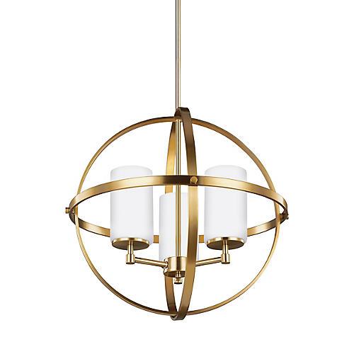 Alturas 3-Light LED Chandelier, Satin Bronze