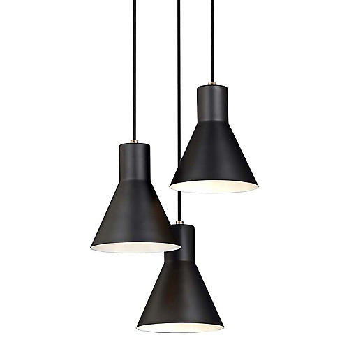 Towner 3-Light Pendant, Satin Bronze