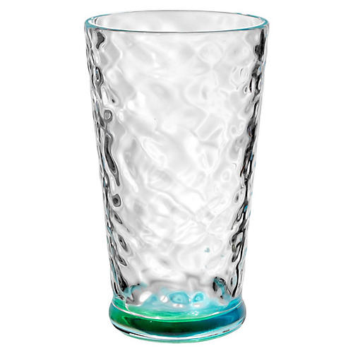 S/6 Rae Tall Glasses, Turquoise