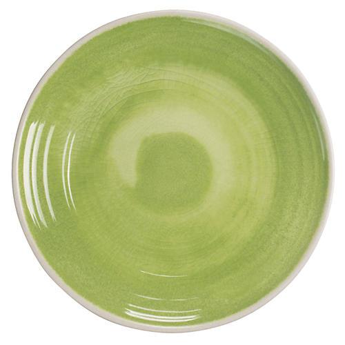 S/6 Duval Dinner Plates, Green