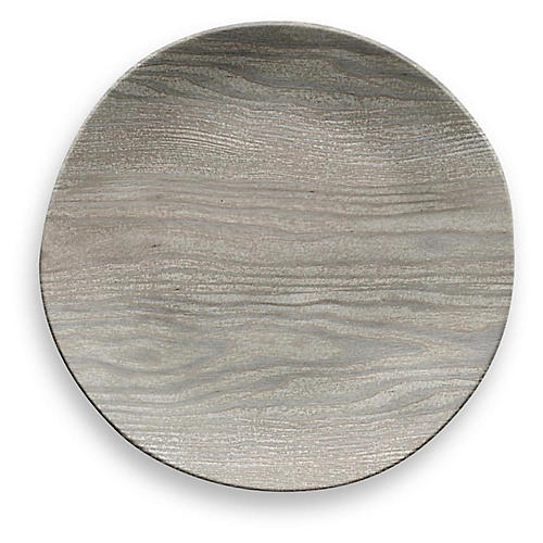 S/6 Breaon Dinner Plates, Gray
